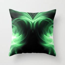 abstract fractals mirrored reacde Throw Pillow