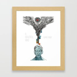 A beautiful mind Framed Art Print