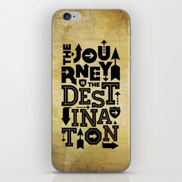 The Journey Is The Destination, Gold Map iPhone Skin