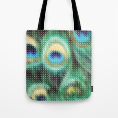 Peacock Feather Graphic Tote Bag