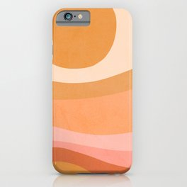 Golden Summer Sunset - Abstract landscape iPhone Case