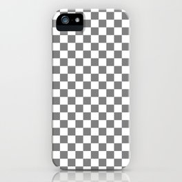 Small Checkered - White and Gray iPhone Case