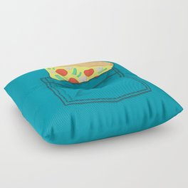Emergency supply - pocket pizza Floor Pillow