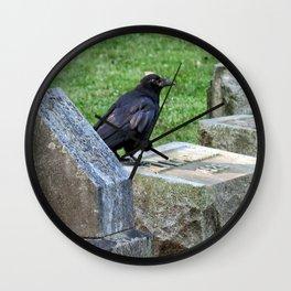 Cemetery Raven  Wall Clock