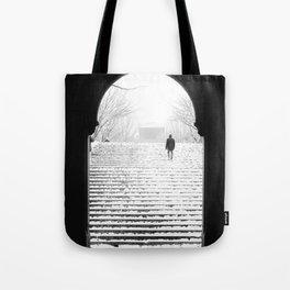 Man in Snow Tote Bag
