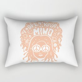Open Your Mind in orange Rectangular Pillow