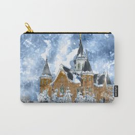 Provo City Center LDS Temple in Winter watercolor Carry-All Pouch