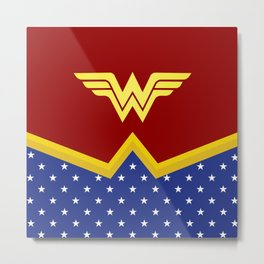Wonder Of Woman - Superhero Metal Print
