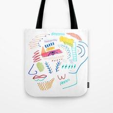 Face. abstract, pattern Tote Bag