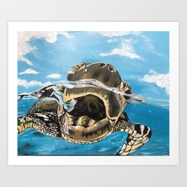 Sea Turtle By Noelle's Art Loft Art Print