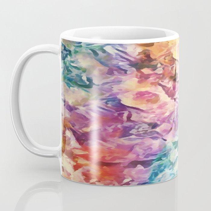 Bright Cheerful Mulitcolor Floral Abstract Coffee Mug