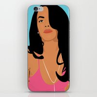 aaliyah iPhone & iPod Skins featuring Babygirl by 92 Aesthetics