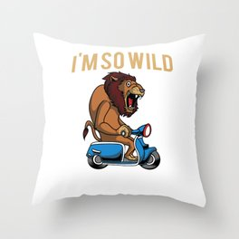 Scooter Bike Scoot Moped Throw Pillow