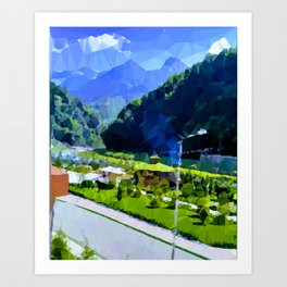 valley and mountains Art Print