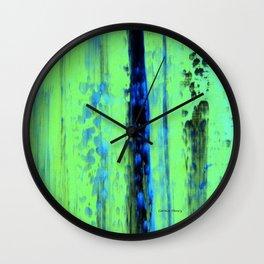 Gerhard Richter Inspired Urban Rain 2 - Modern Art Wall Clock