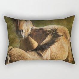 Horsing Around No. 1 - Pryor Mustangs Rectangular Pillow
