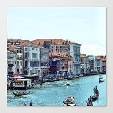 Along the Grand Canal Canvas Print