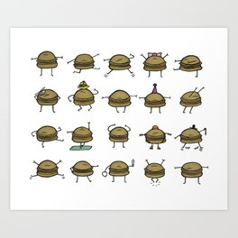 Hooray! Cheeseburgers! Art Print