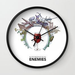 #4 In the Presence of My Enemies Wall Clock