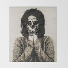 Bjork skull Throw Blanket