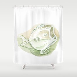 watercolor glass fish Shower Curtain
