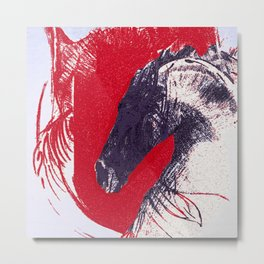 Hero - the courage of the horse Metal Print