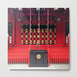 Japan Red Shrine Metal Print