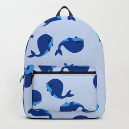 BABY WHALES IN BLUE Backpack