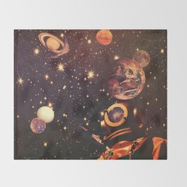 Space Boots. Throw Blanket