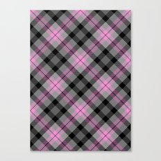 Pink and Gray Plaid Canvas Print