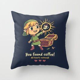 The Legendary Coffee Throw Pillow
