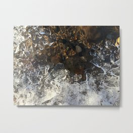 Naturals by Nikki - Frozen Pebbles Metal Print