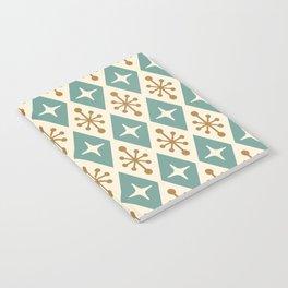 Mid Century Modern Atomic Triangle Pattern 102 Notebook