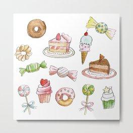 Cakes & Candies Metal Print