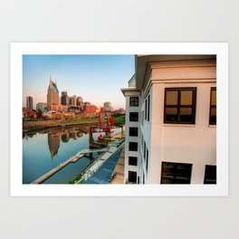 Nashville Along the River Art Print