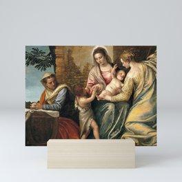 "Veronese (Paolo Caliari) ""Madonna and Child with Saint Elizabeth, the Infant Saint John the Baptist"" Mini Art Print"