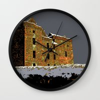 scotland Wall Clocks featuring Scotland Winter by dacarrie