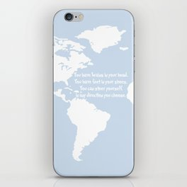 Dr. Seuss inspirational quote with earth outline iPhone Skin