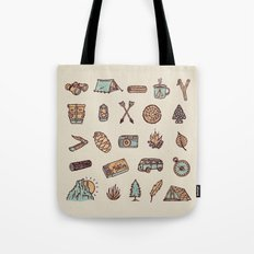 Lets Go Camping Tote Bag