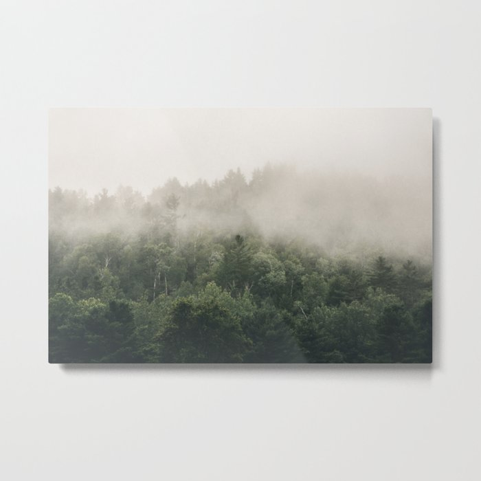 Forest Fog Photography   Woods   Misty   Mist   Forest Dew   Kaszuby Canada   Nature Photography Metal Print