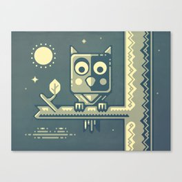 Night owl graphic design Canvas Print