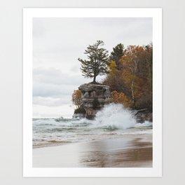 Chapel Rock   Pictured Rocks National Lakeshore, Michigan   John Hill Photography Art Print