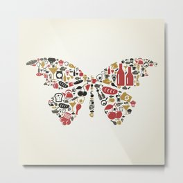 Food the butterfly Metal Print