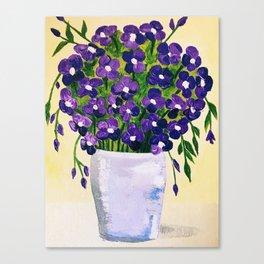 Purple Floral Bouquet Canvas Print