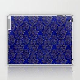 Hamsa Hand pattern - gold on lapis lazuli Laptop & iPad Skin