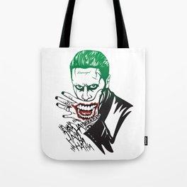 Joker_Jared Leto_Suicide Squad Tote Bag