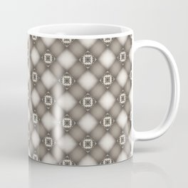 Ornate Bronze Weave Geometric Squares Coffee Mug
