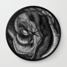 In Contrast to Color (Rainbow Rose, B & W) Wall Clock