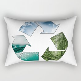Recycle Earth Rectangular Pillow