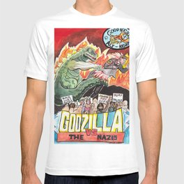 Godzilla vs The Nazis T-shirt